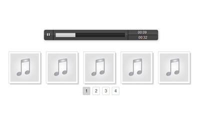 Audio Gallery 2 with thumbnails