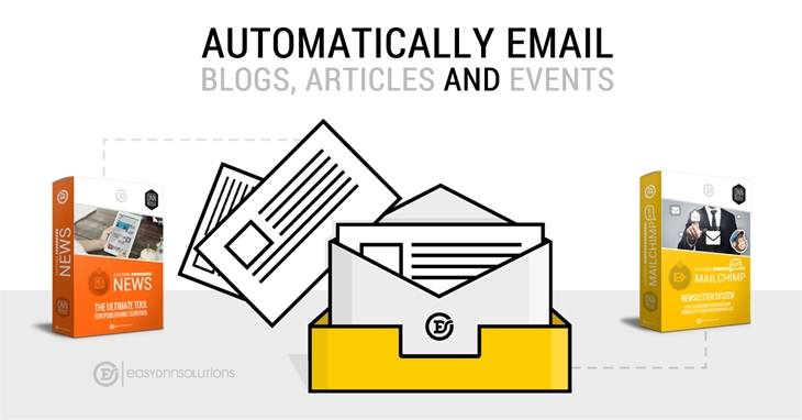 Get email articles, blogs and events from the EasyDNN News module to your subscribers by using the EasyDNN MailChimp module