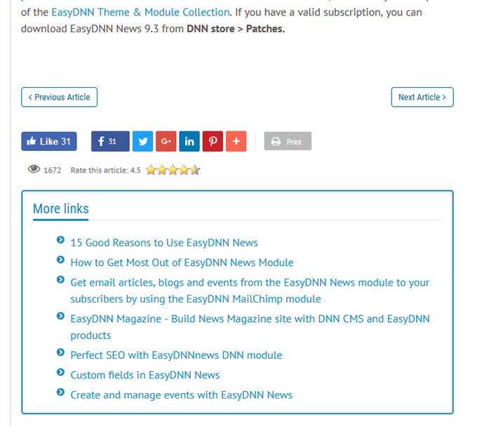 More links in EasyDNN News