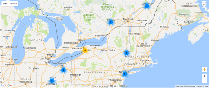 EasyDNN Maps - Clustered markers
