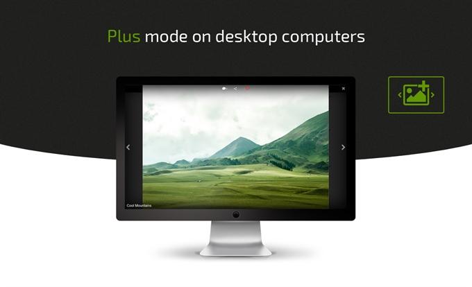 Plus mode on desktop computers