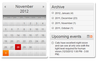 Calendar and Archive