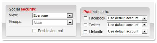 Automatic Social Posting